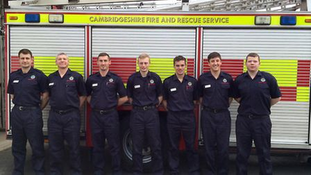 Cambridgeshire Fire and Rescue Services new recruits, from left: Lee Parnell (St Ives), Mike Lees (H