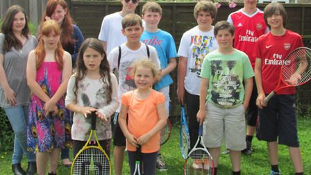 Young tennis players took part in a sunrise to sunset challenge.