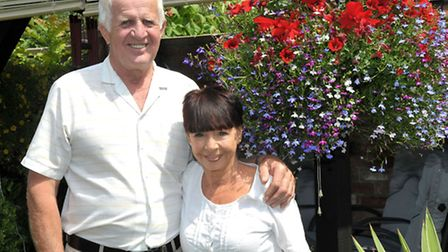 Paul and Maria Nielsen Bom of Henson road March. held an open garden event to raise money for cancer