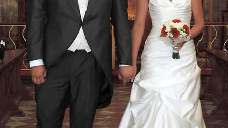 Rebecca Wright and Shaun Peacock were married at Tydd St Giles Parish Church.