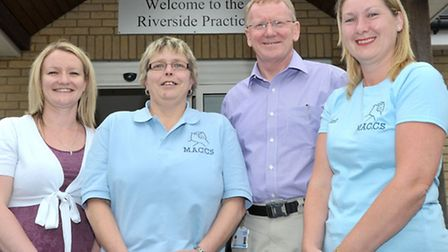 New support group for cancer sufferers set up at the Riverside Practice, March. Left: Louise McAvoy