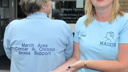 New support group for cancer sufferers set up at the Riverside Practice, March. Left: Karen Thorley