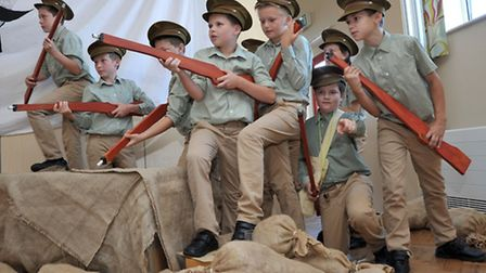 Kingsfield School production about town's soldiers on the Somme.Year 6 students from Kingsfield Prim