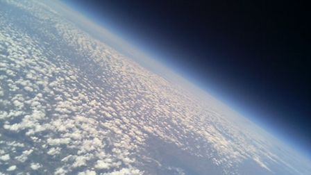 Shots of the earth taken from the stratosphere