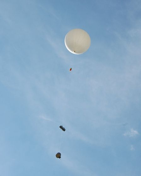 The balloon was launched from Kennett Primary School