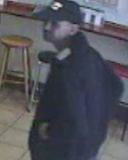 The man police would like to speak to in connection with the armed robbery