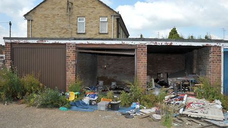 Storbeck garages, Wisbech. Picture: Steve Williams.