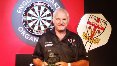 Steve Carrett with his English singles trophy
