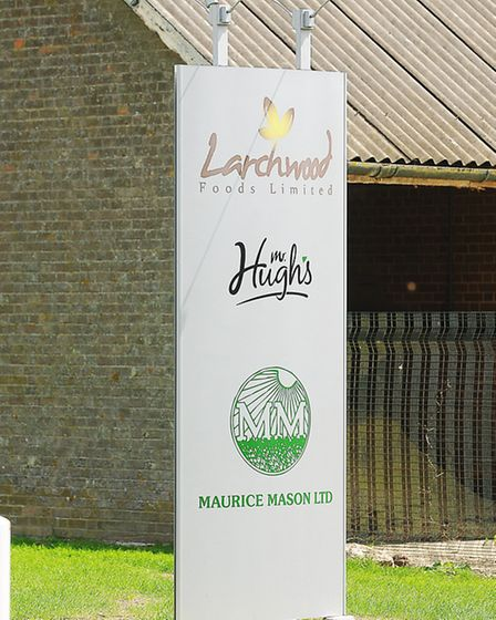 A man has died after falling into a grain silo at the Larchwood Foods Limited site, Fincham. Picture