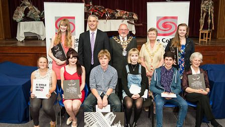 Award recipients with MP Stephen Barclay and Wisbech town Mayor and Mayoress Cllr Michael Hill and J