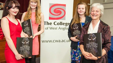 Award recipients from the Isle Campus - Carli Nelson, Abby Rose, Rachel Simpson and Lesley Best. Pic