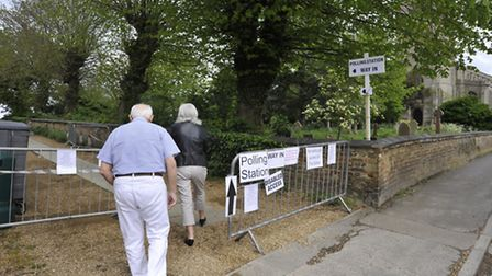 The wall had to be sectioned off during the recent Sutton by-election