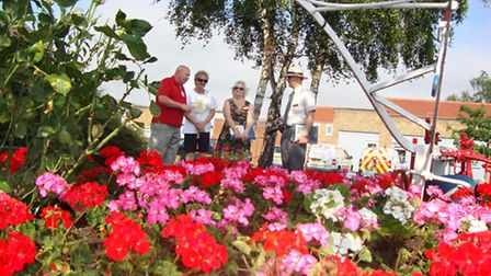 Anglia in Bloom judges take a look at one of the Street Pride projects in Whittlesey.