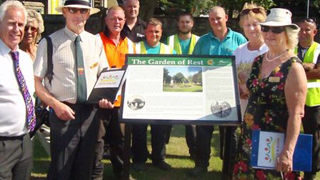 A new interpretation board was unveiled at the Garden of Rest as part of the judges' visit.