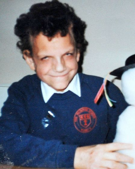 Robert Smith, aged five.