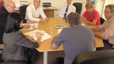 Steve Barclay MP hosting a meeting regarding Fly tipping in Fenland