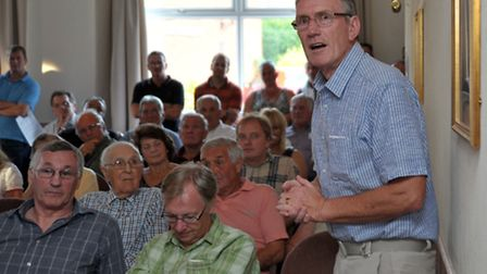 Public meeting at Oliver Cromwell Hotel. March. Consultation on Estover playing field. Picture: Stev