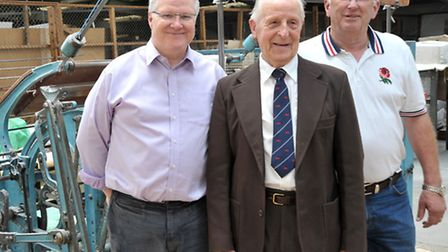 Felthams, March. 50th Year in trading. Managers past and present, Left: Colin Oswald present manager