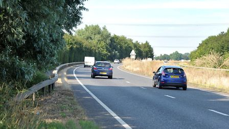 A47 Dual Carriageway between Wisbech and Kings Lynn..( Walpole Highway) Picture:Steve Williams.
