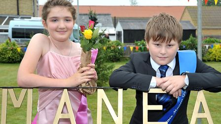 Manea Gala Parade. Mania Gala Queen Lucy Johns and Head Prince Ruari Cox.Picture: Steve Williams.