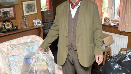 March Floods Aftermath. Jack Harriss in his living room, Picture: Steve Williams.