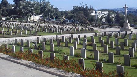 British war memorial cemetary and the grave of Sidney Jack Piggins in Jerusalem.