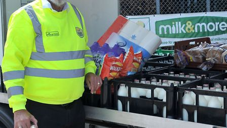 Bob Brooks, a Dairy Crest milk & more milkman, retires after 23years . Picture: Steve Williams,