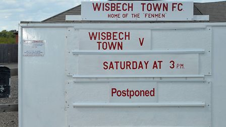 Floods, Day after. Wisbech football postponed.Picture:Steve Williams.