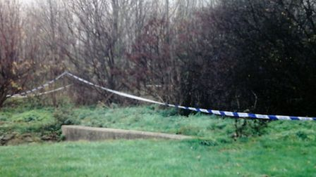 Some of the original photos by police which show the spot where Rikki Neave's body was found.