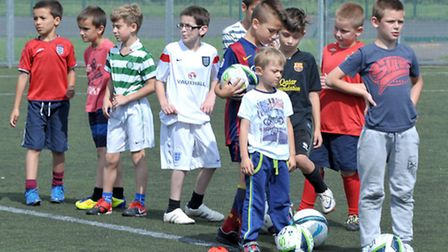 Summer soccer camp for children aged six to 16 took place at Thomas Clarkson Academy. Wisbech. Pictu