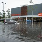 The view in Sainsbury's car park, in Ely, at 6pm on Friday. Picture: Clinton Edwards.