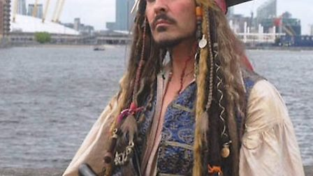 A Captain Jack Sparrow impersonator will be visiting the Horsefair Shopping Centre for a pirate fun