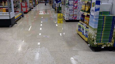 Tesco has closed its store in Hostmoo, March, because of flooding