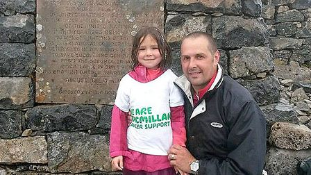 Six year old Sofia Ross from Thorney has just returned from climbing Ben Nevis to raise funds for Ma