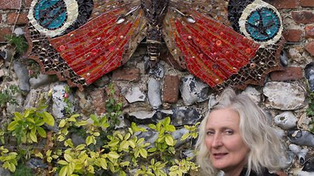 Carolyn Ash with one of her creations.