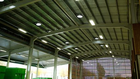 Inside Witchford Recycling Centre
