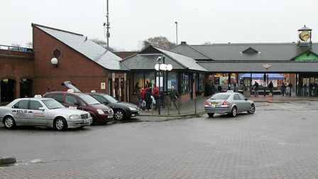 The bus station at the Horsefair Shopping Centre.