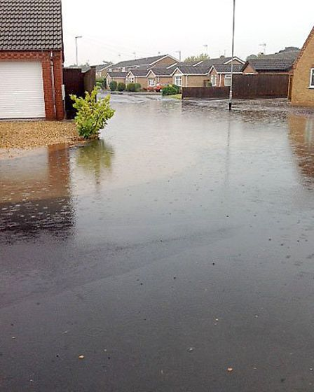 March floods readers pictures. Cedar Road March. Picture: Maureen Coker.