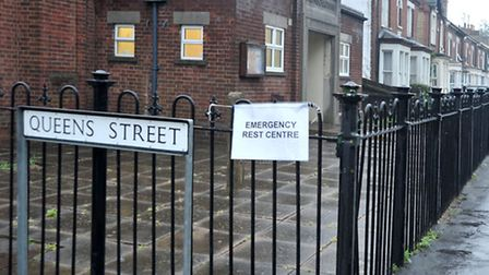 Emergency rest centre, St Johns hall March.Picture: Steve Williams.