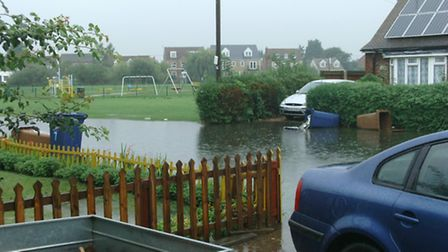 Flooding in North Drive, March, picture by reader Rebecca Laws