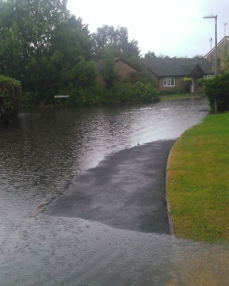 Flooding in Gresley Way, March, picture by reader Brodie Lyon