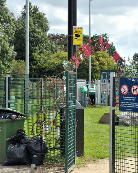 Entrance to the Spinney play area.Picture: Steve Williams.