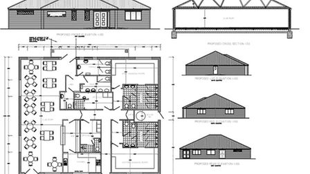 March Town FC Clubhouse plans.