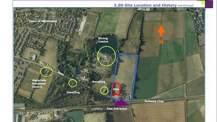 Site of new boarding kennels, New Road, Whittlesey