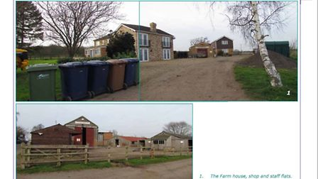 New Road, Whittlesey, illustrations of farmhouse and kennels sent to Fenland Council