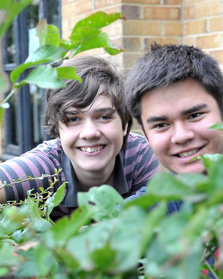 Members of the National Citizenship Service were at Swan House to clear some room in the garden for