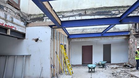 Constantine House, Wisbech. Behind the scenes of demolition and refurbishment. Picture: Steve Willia