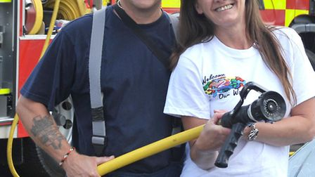March fire crew ran a charity car wash at Tesco in March. Helped by Welcome 2 our world charity volu