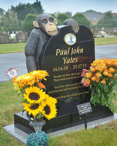 New unusual headstone to hail the beginning of new style type gravestones at the cemetery. Picture: