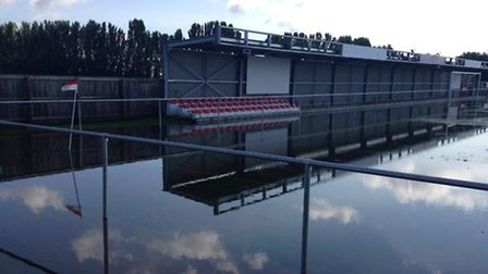 Wisbech Town's game against Harborough was called off at 10.30am on Saturday due to severe waterlogg